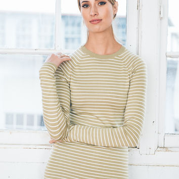 ecoKashmere Skinny Stripe Sweater - FINAL SALE