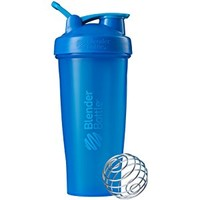 BlenderBottle Classic Loop Top Shaker Bottle, Cyan/Cyan, 32-Ounce Loop Top