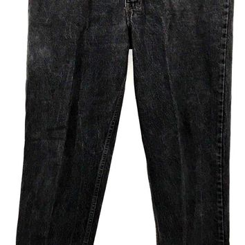 Levi's Jeans 540 Black Wash Vintage Made in USA Leather Tab Men's Size 40 x 34 - Preowned