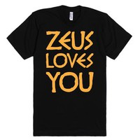 Zeus Loves You-Unisex Black T-Shirt