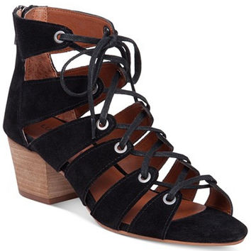 Lucky Brand Women's Genevie Ghillie Lace Up Sandals