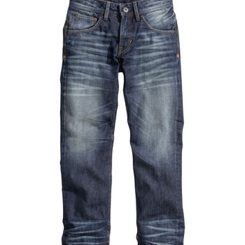 H&M - Relaxed Generous Size Jeans - Denim blue - Kids