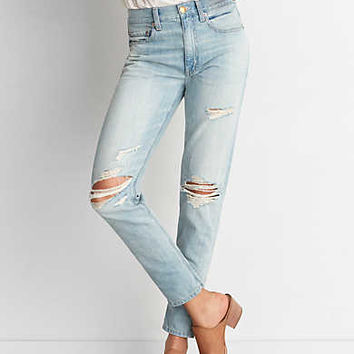 Vintage Hi-Rise Jean, Light Destroy Wash