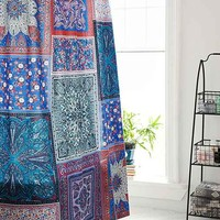 Plum & Bow Scarf Patchwork Shower Curtain- Blue Multi One
