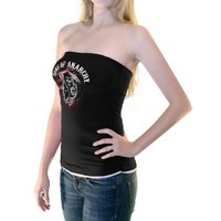 Sons of Anarchy Reaper Black & White Juniors Tube Top - Sons of Anarchy - | TV Store Online