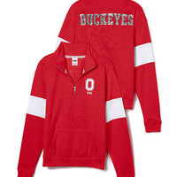 Ohio State University Bling Half-Zip Pullover - PINK - Victoria's Secret