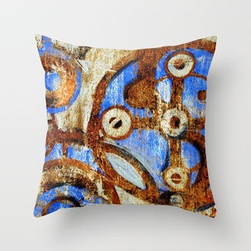 rusted Throw Pillow by agnes Trachet