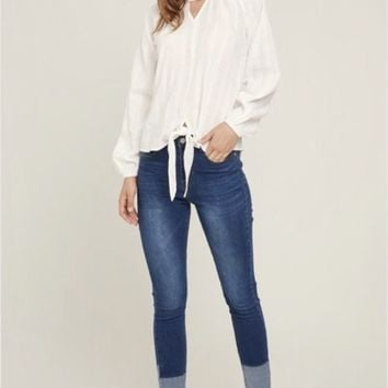 Hayden Cut-out Peasant Top