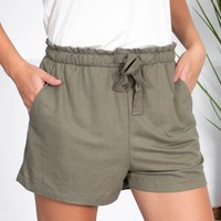 Adventure Drawstring Shorts | Olive Green