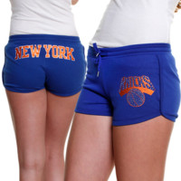 New York Knicks Ladies Rebound Shorts - Royal Blue