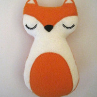 Christmas Fox Woodland Animal Felt Plush Toy - Freddy The Fox - Christmas Gift