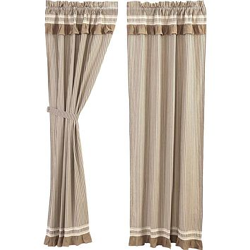 Kendra Stripe Black Panel Curtains