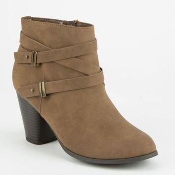 ONETOW SODA Double Strap Womens Booties | Boots + Booties
