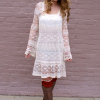 Enchanted Lace Dress: Ivory