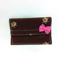 Mini Clutch Wallet -- Bus Pass Holder, Subway Pass Holder, Credit Cards Holder, ID Holder, Business Card Holder, Cash, Coins, Coupon Holder