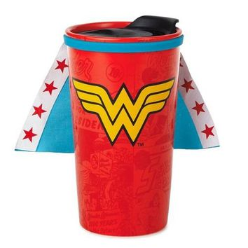 Hallmark WONDER WOMAN Travel Mug with Cape