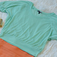 So Sweet Crop Top: Seafoam