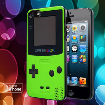 Green Nintendo Game Boy Color Cover for iPhone, Samsung, iPod, Blacberry, htc and sony Case