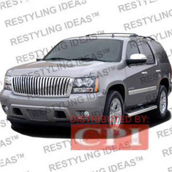 Chevrolet 2007-2009 Chevrolet Suburban/Tahoe Chrome Vertical Narrow Bar - Snap-On Abs Grille Performance