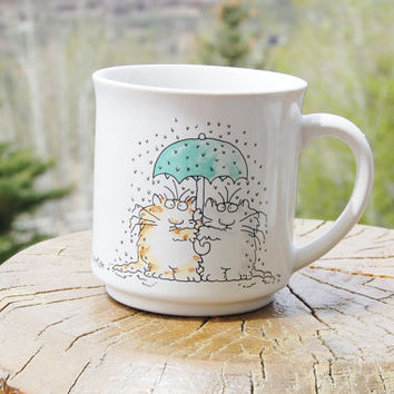 Sandra Boynton Coffee Cat Mug  Japan Recycled Paper Products