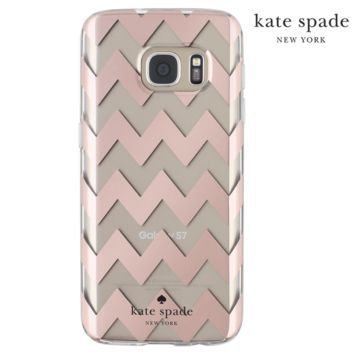 Samsung Galaxy S7 Kate Spade Rose Gold Chevron Case