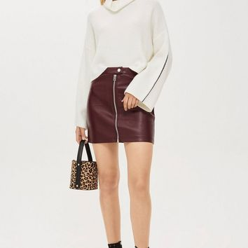 Leather Look Mini Skirt | Topshop