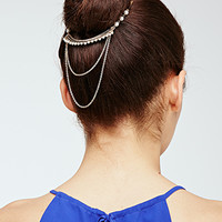 Etched Faux Pearl Headpiece