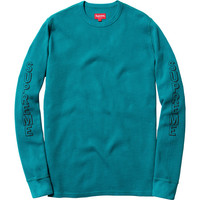 Supreme: Drop Shadow Waffle Top - Teal