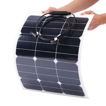 Elfeland SP-14 35W 18V 510*410mm Mono Flexible Solar Panel Battery Charger For Camping Boat Caravan