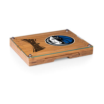Dallas Mavericks - 'Concerto' Glass Top Cheese Board & Tools Set by Picnic Time