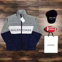 DCCK BALENCIAGA Fashion Zipper Print Cardigan Jacket Coat Windbreaker Sweatshirt