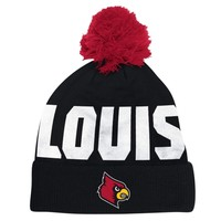 Louisville Cardinals adidas 2014 Player Knit Beanie – Black