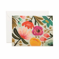 Gold Floral Greeting Card by RIFLE PAPER Co. | Made in USA