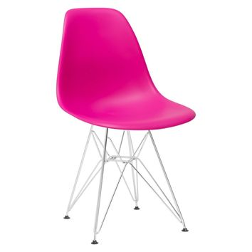 Padget Side Chair in Fuchsia