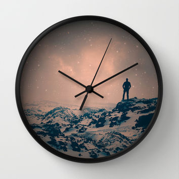 Lost the Moon While Counting Stars Wall Clock by Soaring Anchor Designs