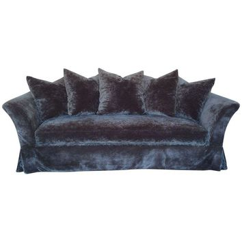 Pre-owned Flared Arm Slipcover Sofa