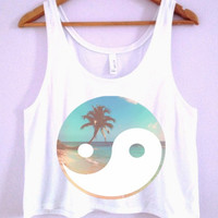 Tropical Yin-Yang Crop-Top