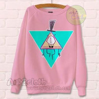 Gravity Falls Bill Cipher Pink Unisex Sweatshirts | art2cloth