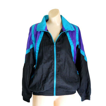 90s Windbreaker 80s Windbreaker Women Windbreaker Jacket Purple Jacket Nylon Jacket Retro Windbreaker Women Spring Jacket Lightweight jacket