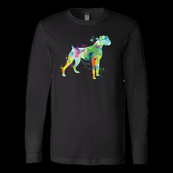 Pet - Watercolor Love Dog Paint - Long Sleeve T Shirt - TL00754LS