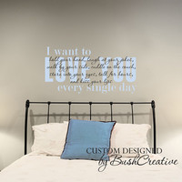 Wall Decal I love you Master bedroom quote  028-44