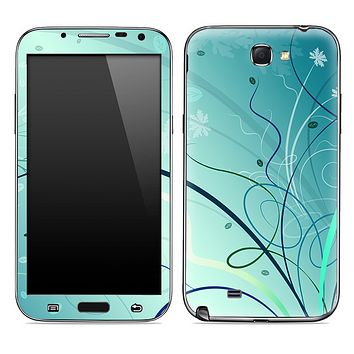 Green Abstract Swirled Skin for the Samsung Galaxy Note 1 or 2