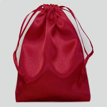 Drawstring Pouch - Poly Satin Charmeuse