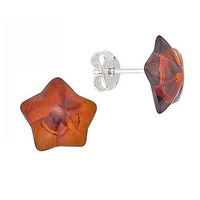 Star Earrings - Baltic Amber