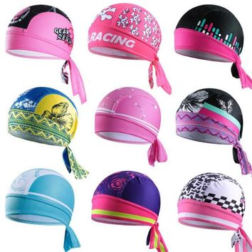 Women Bicycle Hat Pirate Scarf MTB Racing Cycling Bandana Quick-dry Ciclismo Girls Headscarf Headband Cycling Caps 9 COLORS M103