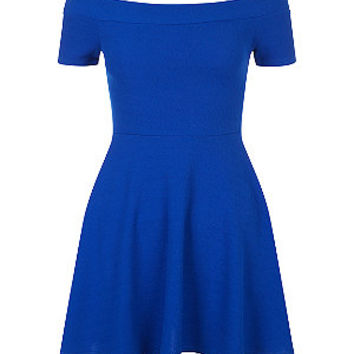 Teens Blue Bardot Skater Dress