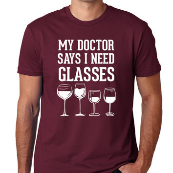 My Doctor Says I Need Glasses Crewneck Tee