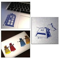 Doctor Who Clear Vinyl Sticker 6-Pack (includes TARDIS, K-9, & Red, Yellow, Blue and Orange Daleks): Amazon.ca: Home & Kitchen