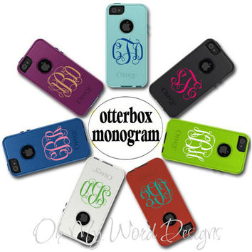 IPhone Monogram Decal by OhMyWordDesigns on Etsy
