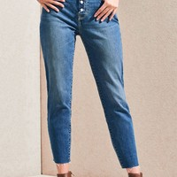 Girlfriend Blue Vintage Icon Mom Jeans | PacSun